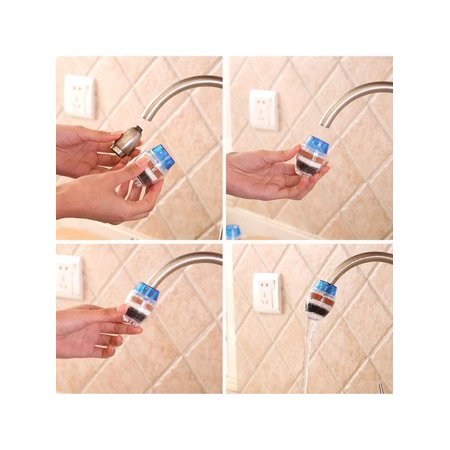 Kitchen Tap Water Filter Purifier Tap  Activated Carbon Water Filter - image 6 de 8