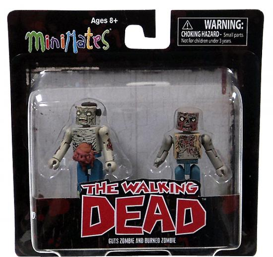 Guts Zombie & Burned Zombie Minifigure 2-Pack Minimates Series 1