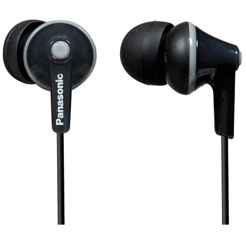 Panasonic ErgoFit In-Ear Headphones (Black) # RP-TCM125-K International Model