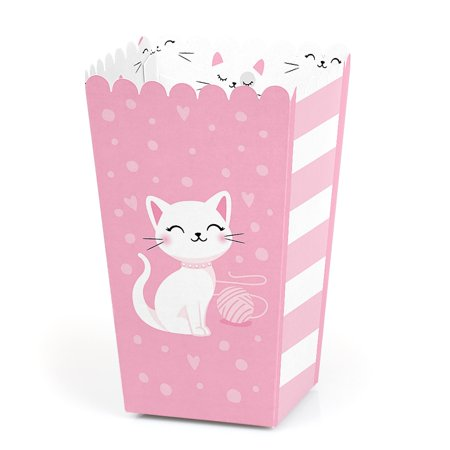 Purr-FECT Kitty Cat - Kitten Meow Baby Shower or Birthday Party Favor Popcorn Treat Boxes - Set of 12](Kitty Birthday)