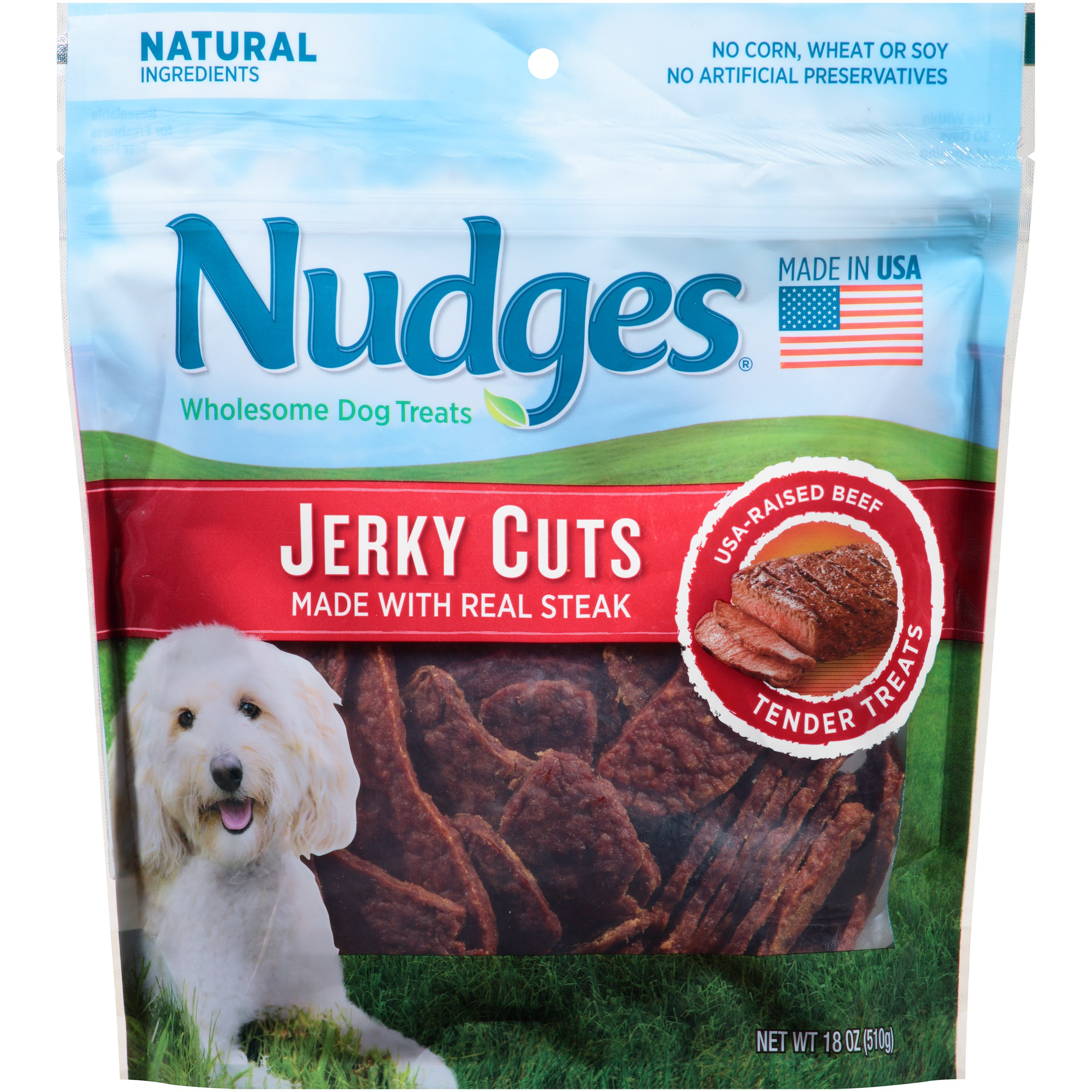 Nudges Steakhouse Beef Fillets Jerky Dog Treats by Tyson Pet Products, Inc.