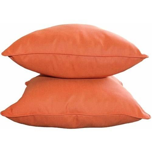 "Sunbrella Designer 20"" Decorative Pillows with Self Color Piping, Set of 2"