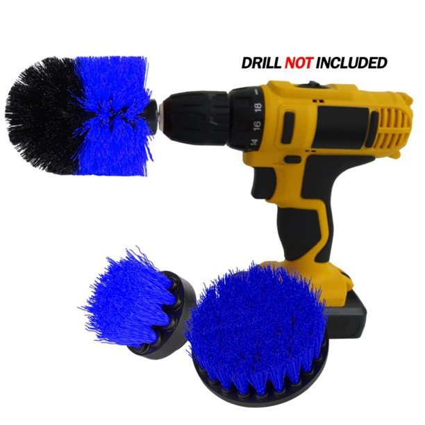 Pretty Comy 3pcs Power Scrubber Brush Set For Bathroom Drill Scrubber Brush For Cleaning Cordless Drill Attachment Kit Power Scrub Brush Walmart Com Walmart Com