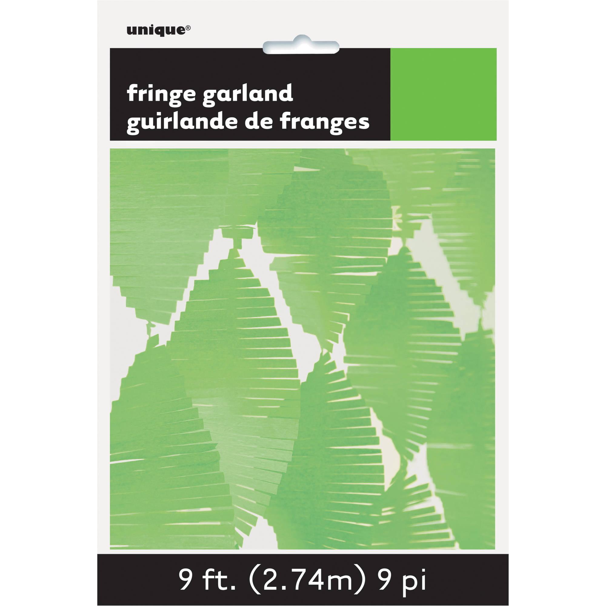 Tissue Paper Fringe Streamer Garland, 9 ft, Lime Green, 1ct