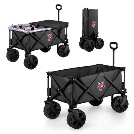 Wisconsin Badgers - Adventure Wagon Elite with all Terrain Wheels by Picnic Time (Dark Grey)