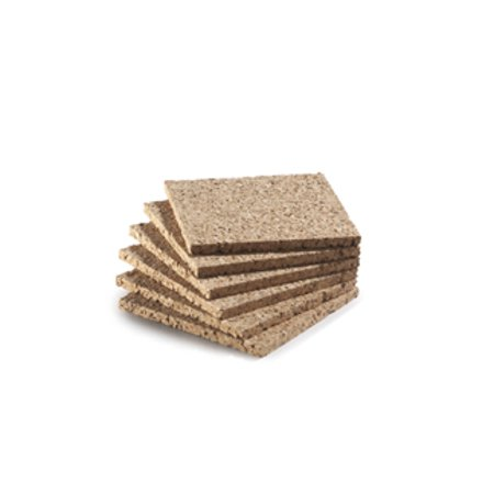 "WIDGETCO 1/4"" x 4"" Square Cork Coasters(6 pack)"