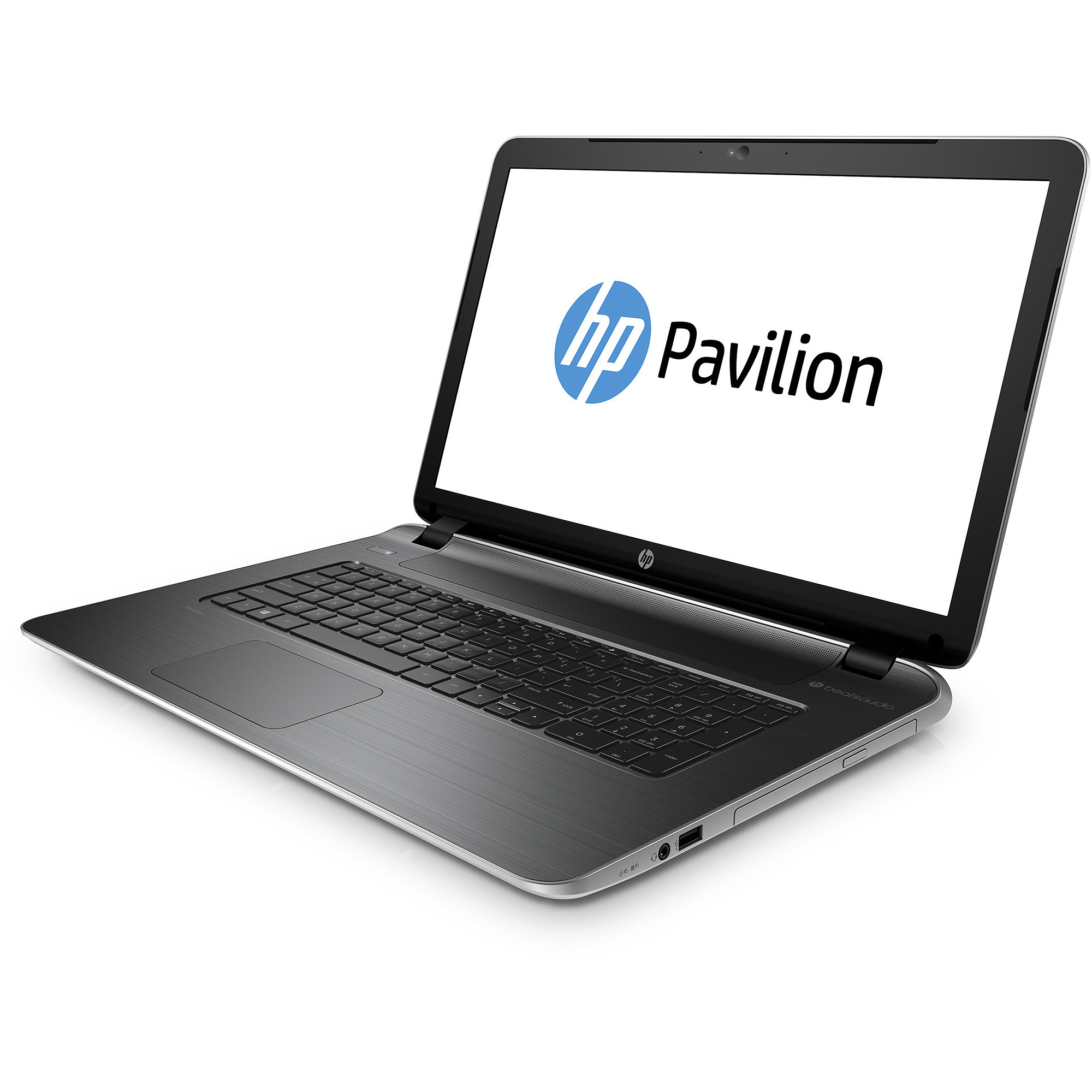 """HP Natural Silver 17.3"""" Pavilion 17-f010us Laptop PC with AMD A6-6310 Quad-Core Processor, 4GB Memory, 750GB Hard Drive and Windows 8.1"""