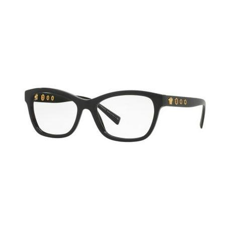 ed2c4af44e0 VERSACE Eyeglasses VE 3225 GB1 Black 54MM - Walmart.com