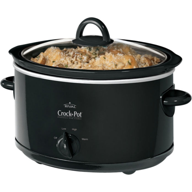 Crock-Pot® 4-Quart Manual Slow Cooker, Black