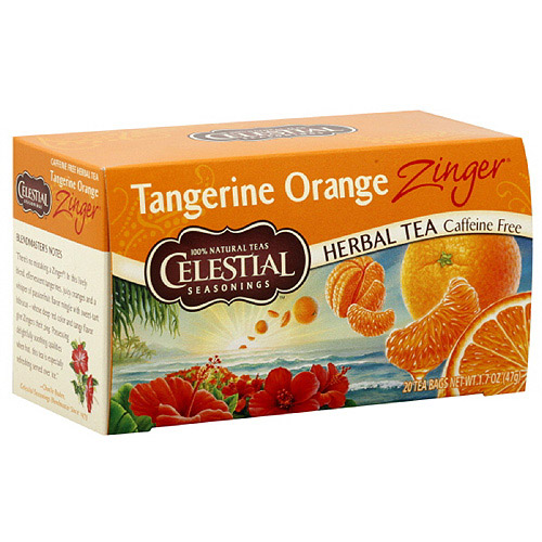 Celestial Seasonings Tangerine Orange Zinger Tea, 20ct (Pack of 6)