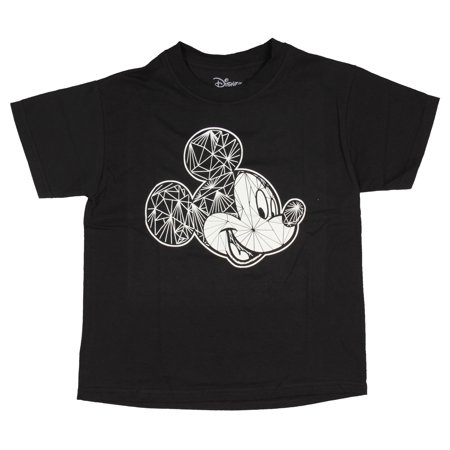 Disney T Shirt Mickey Mouse Tee Cartoon Character Boy's Black Cotton Top (Dash Cartoon Character)