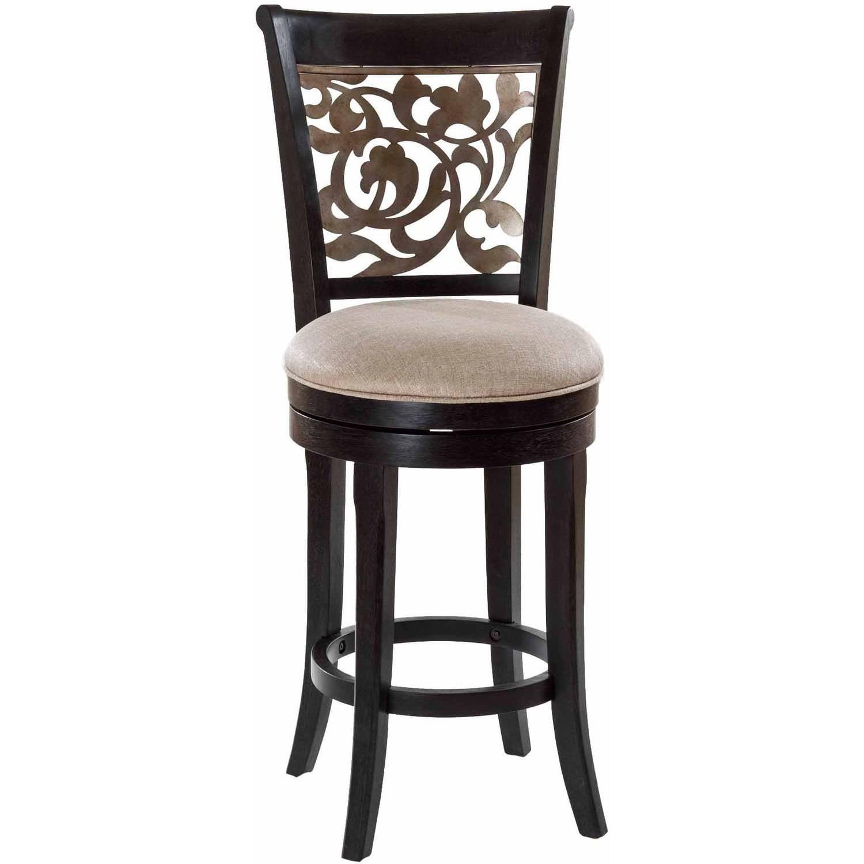 "Hillsdale Bennington 48"" Swivel Bar Stool in Black by Hillsdale Furniture LLC"