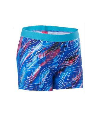 "Future Star by Capezio 2"" Inseam Active Shorts All Over Ocean Tides Print."