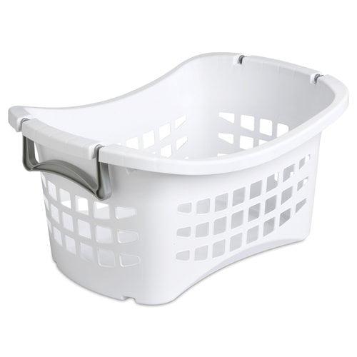Sterilite 1.5-Bushel Ultra Stacking Laundry Basket, White