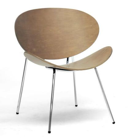 Baxton Studio Reaves Walnut Effect Mid-Century Modern Accent Chair