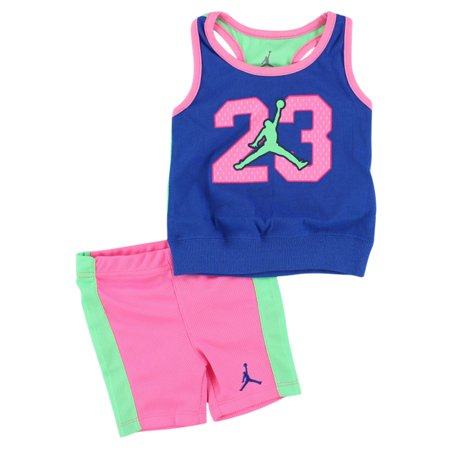 Baby Girl Jordan Clothes Simple Jordan Baby Girls Infant Tank Set Blue Walmart