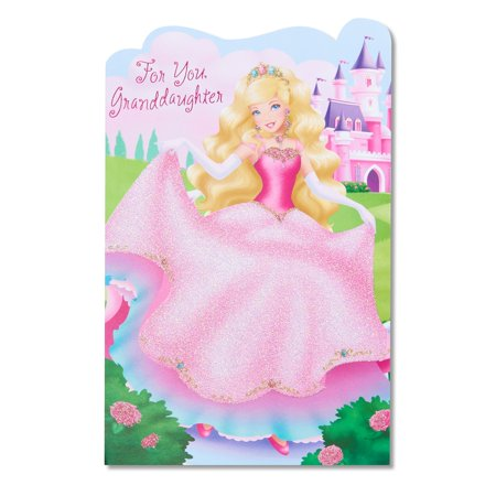 Princess Birthday Card For Granddaughter With Glitter Walmart