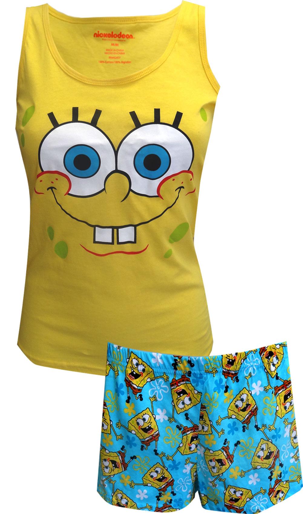 nickelodeon spongebob cotton shortie pajama walmart com