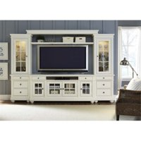 "Liberty Furniture Harbor View 110"" Entertainment Center in Linen"