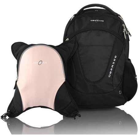 obersee oslo diaper bag backpack and cooler black bubble gum. Black Bedroom Furniture Sets. Home Design Ideas