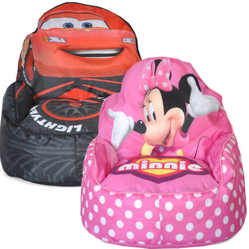 Toddler Bean Bag Sofa Chair (Your Choice in Character) with Room Accessory