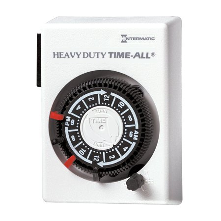 HB112C Heavy Duty Air Conditioner and Appliance Timer, Automatically controls 240 volt heaters, heavy-duty appliances and lamps By Intermatic