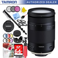 Tamron 18-400mm f/3.5-6.3 Di II VC HLD All-In-One Zoom Lens for Nikon Mount with 72mm Filter Sets Plus 64GB Accessories Bundle
