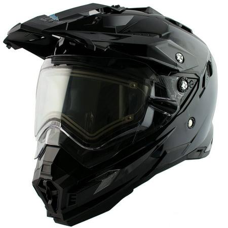Snow Master TX-27 Gloss Black DS Snowmobile - Small Snowmobiles Helmets