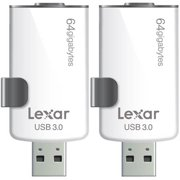 Lexar JumpDrive M20i 64GB USB 3.0 Flash Drive for iPhone with Lightning Connector in 2-Pack Bundle includes Bonus Instant Savings Coupon