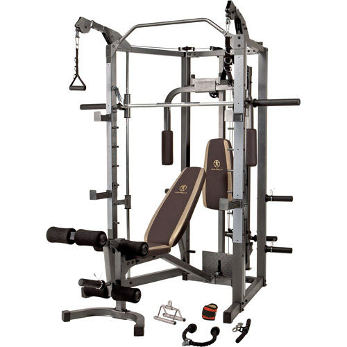 Marcy Combo Smith Machine: SM-4008, improving muscular strength and endurance slows bone density loss,workout routine woman