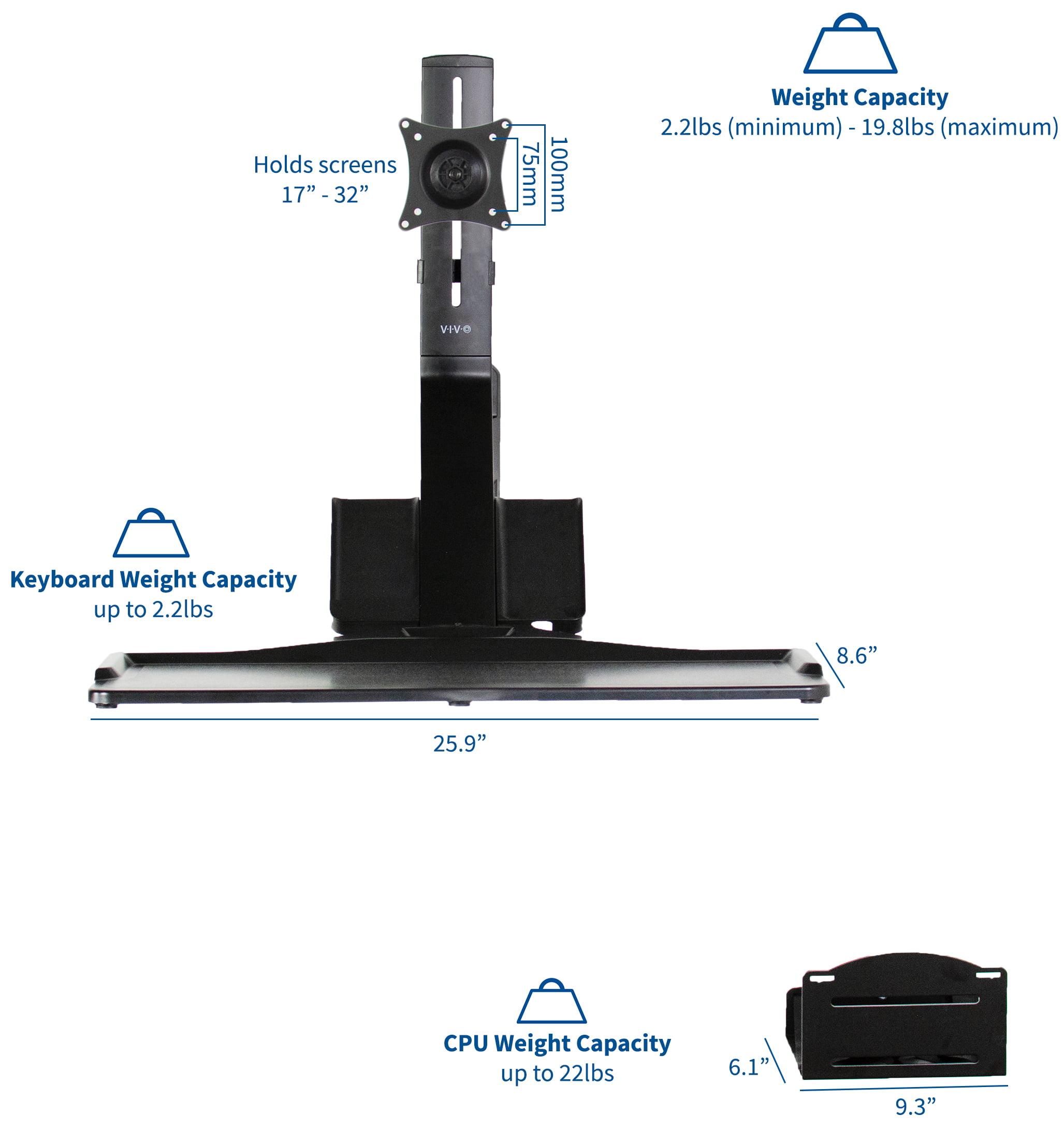 VIVO Sit-Stand Wall Mount Counterbalance Adjustable Monitor Keyboard Workstation