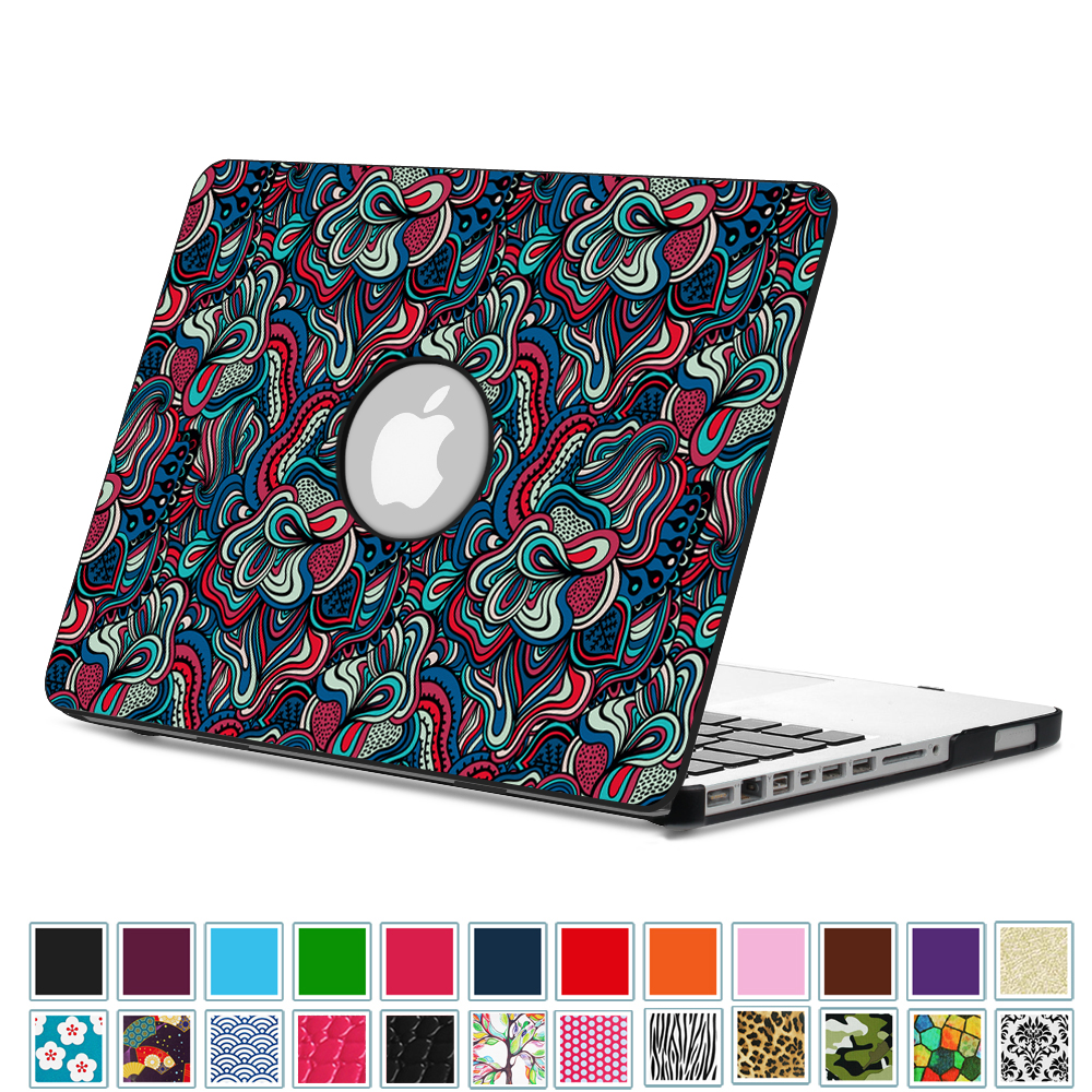 Fintie MacBook Pro 13 Case (Non-Retina) with PU Leather Coated Plastic Hard Cover Snap On Cover, Mushroom Fantasy