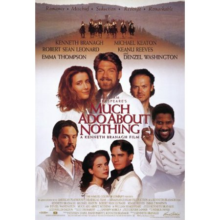 Much Ado About Nothing Poster Movie 11X17 Kenneth Branagh Emma Thompson Keanu Reeves Kate Beckinsale  Approx  Size  11 X 17 Inches   28Cm X 44Cm By Pop Culture Graphics Usa