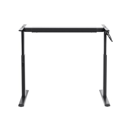 Monoprice Height Adjule Sit Stand Riser Table Desk Frame Black With Manual Crank Compatible