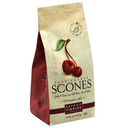 Potato Scone - Sticky Fingers Bakeries Tart Cherry Scones Mix, 15 oz, (Pack of 6)
