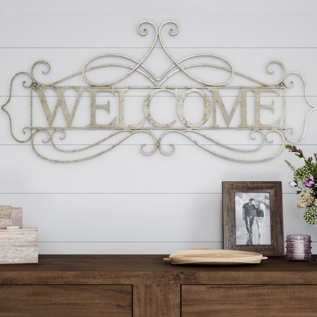 Metal Cutout- Welcome Decorative Wall Sign-3D Word Art Home Accent Decor-Perfect for Modern Rustic or Vintage Farmhouse Style by Lavish Home