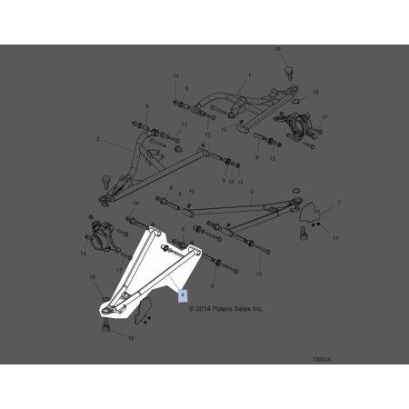 Polaris 2015-2016 Rzr Xp Turbo Rzr Xp 4 Turbo Weld Ctrl Arm Lwr Fr Rh 64 Blk 1018827-458 New Oem