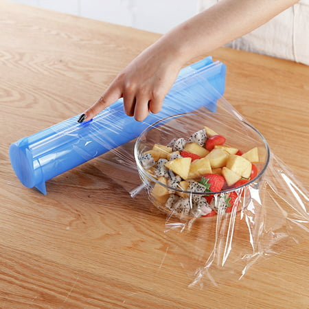 Jeobest 1PC Cling Film Cutting Box - Plastic Wrap Cutter - Food Wrap  Dispenser - Kitchen Food Plastic Wrap Cutting Box Aluminum Foil Roll Carton