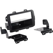 SCOSCHE HA1718B - 2013 and up Honda Civic ISO Double Din and Din with Pocket For Factory Nav Vehicles (Black)