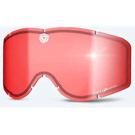 Triple 9 Optics 37-2566 Replacement Lens for Saint Goggles with Tear off Pins - Rose