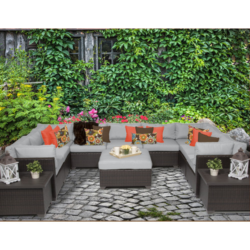 TK Classics Belle 12 Piece Sectional Seating Group with Cushions
