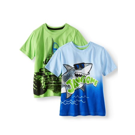 365 Kids from Garanimals Graphic T-Shirts, 2-Piece Multi-Pack Set (Little Boys & Big Boys)