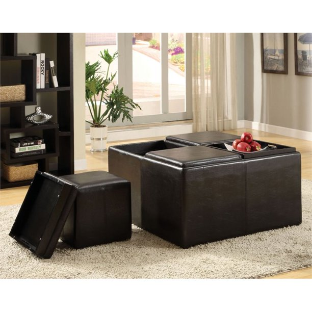 Furniture Of America Hamey Contemporary Faux Leather