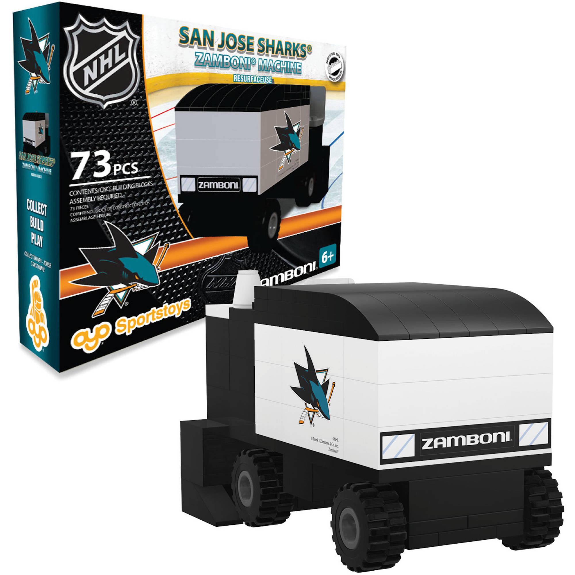 OYO Sports NHL 73-Piece Zamboni Set, San Jose Sharks