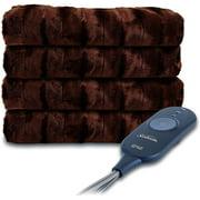 Sunbeam 2091430 Faux Fur Heated Throw Blanket - Walnut