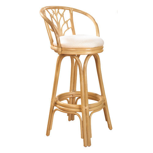 Hospitality Rattan Valencia 30'' Swivel Bar Stool with Cushion