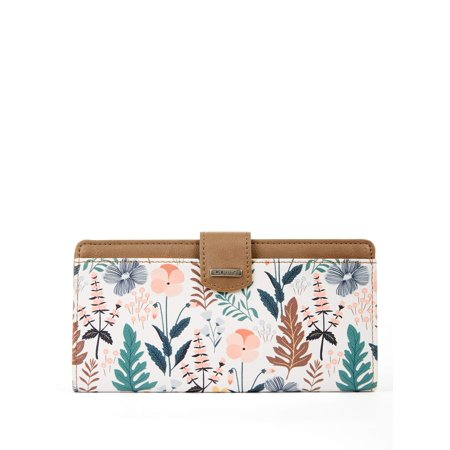 - RELIC by Fossil Floral Multi RFID Checkbook