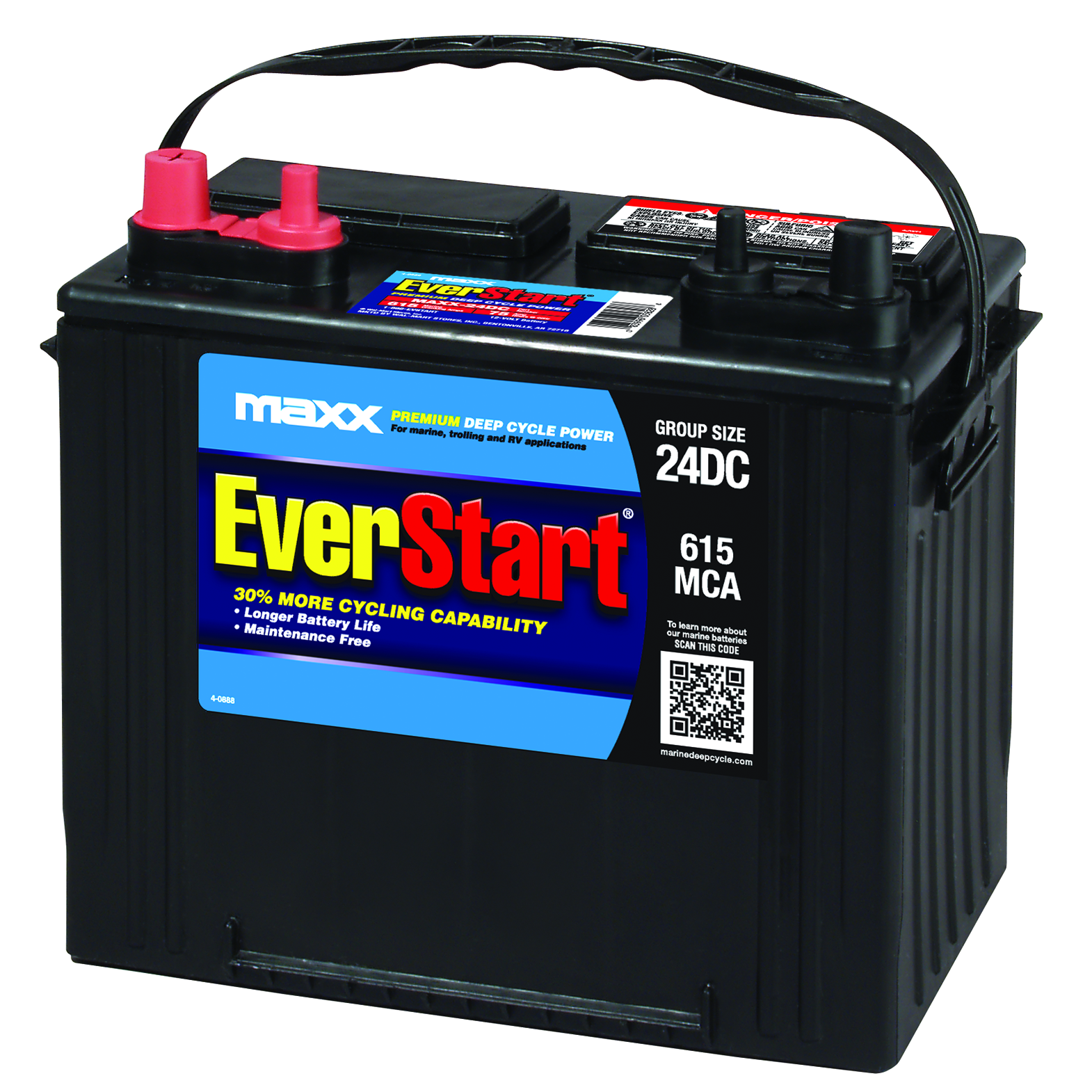 Everstart Maxx Lead Acid Marine Rv Battery Group 24dc Walmart Com
