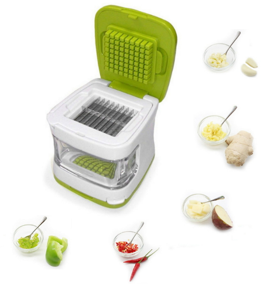Garlic Cube with Stainless Steel Blades, Easy Garlic Press Garlic Chopper-Garlic Crusher, Garlic Dicer and... by