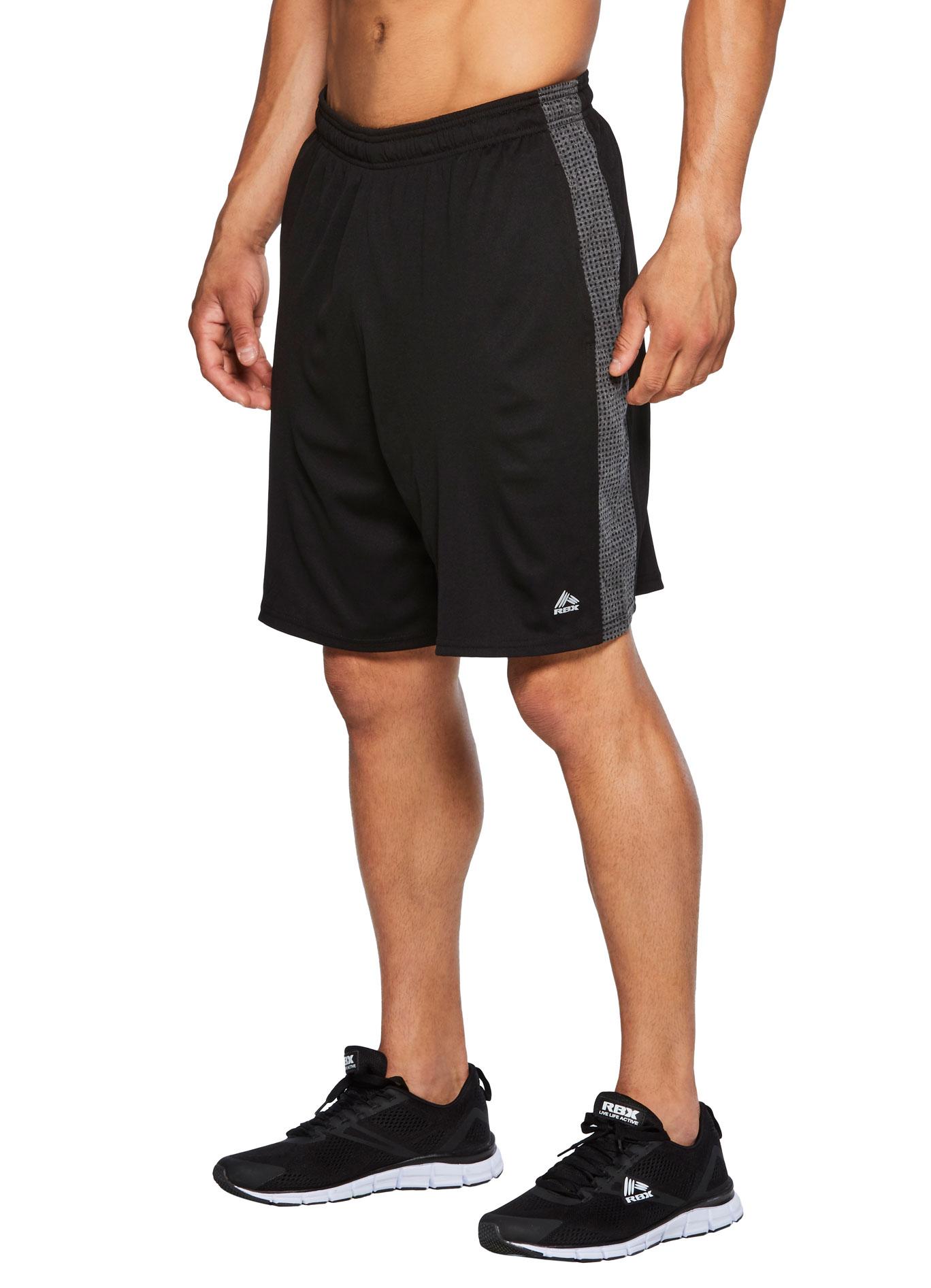 RBX Active Men's Novelty Mesh Gym Shorts w/Pockets